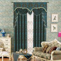 [5013]高档欧式雪尼尔提花双层窗帘 全遮光客厅卧室窗帘抱枕布料