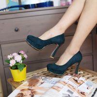 供应春季新款女鞋 韩版夜店超高跟单鞋粗跟防水台单鞋职业高跟鞋 批发