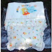 婴儿棉被批发 春秋被送PP棉枕头140*105cm 纯棉花被褥子 可订做