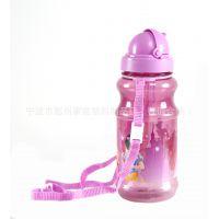 迪士尼儿童水杯防漏吸管杯背带幼儿婴儿水壶学饮杯宝宝喝水杯滑盖