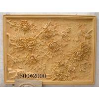 装饰背景墙玫瑰浮雕砂岩壁画景墙