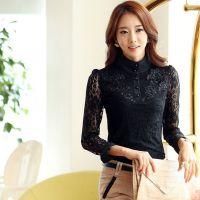2014秋季新款高品质蕾丝衫韩版实拍修身百搭气质长袖打底衫