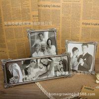 欧式复古金属 5寸7寸10寸卧室多照片相框摆台组合婚纱照相架D5027