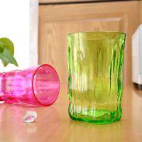 厂家直销透明塑料缤纷口杯彩色塑料杯