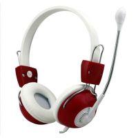 供应供应头戴护耳式游戏影音耳机红色