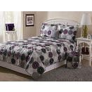 Square Patchwork Quilt Bedding Set Polyester / Cotton With Woven Technics