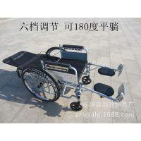 高靠背全躺轮椅带坐便折叠轻便四刹加厚钢管多功能轮椅车官方正品