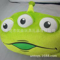 日本东京迪士尼公仔 迪士尼毛绒公仔 三眼怪毛绒玩具抱枕