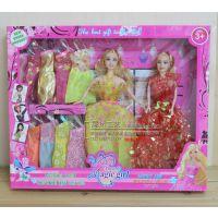 地摊热销创意可爱11寸女孩2个+10件衣服梦幻房间娃娃公仔女孩礼物