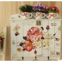 美式田园风格木制电表箱 遮挡箱 电表盒 花 蝴蝶