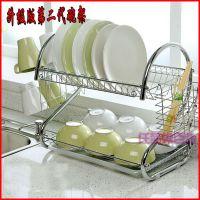 创意厨房用品S型双层碗架/9字沥水碗架批发/碗碟架/厨房置物架