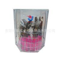 专业生产各类不锈钢彩色透明塑料手柄24件套餐具