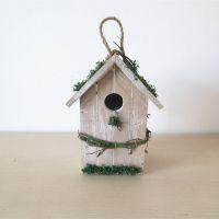 花园装饰品 田园风情做旧木质鸟窝摆件挂件 铁皮与木质 园艺杂货