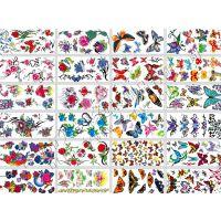 深圳市龙岗印刷厂家专业生产纹身贴纸 卡通防水纹身贴制作价格