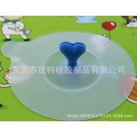 硅胶透明防漏套餐杯盖子 玻璃杯盖子