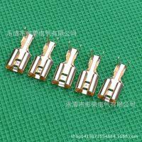 金色6.35mm插簧 连接器 母端子 接线头
