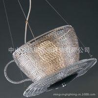 供应2014中山铝线吊灯厂家批发餐厅灯咖啡厅个性铝线吊灯意大利设计杯状