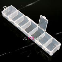 diy手工饰品配件 米珠盒串珠盒收纳盒透明塑料七巧盒 Z0071-1