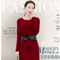 韩版女装高领亮片针织衫加厚长款毛衣打底衫 免费代理