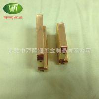 深圳五金电镀厂 供应皮带扣真空电镀24KIPG加工 颜色稳定质量棒