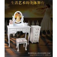 多功能实木欧式梳妆台化妆台系列现代批发定做酒店小家具白色卧室