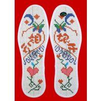 十字绣针孔鞋垫印花鞋垫