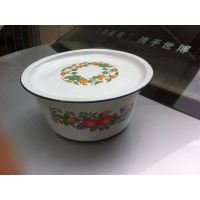 26cm平盖洗手碗5元搪瓷制品低价批发小额配货,厂家直销地摊百货