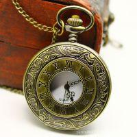速卖通热销  复古大号罗马手表 古铜怀表 工厂怀表 石英手表 定制
