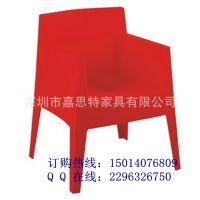 经典款PP塑料椅 一体塑胶椅 休闲餐厅椅子