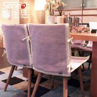 馨生活 雾里看花兰红线全棉椅垫坐垫餐椅垫椅子坐垫椅套餐椅套