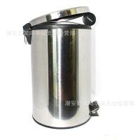 潮州厂家直供 不锈钢垃圾桶 酒店用垃圾桶 脚踏桶 3L-30L容量