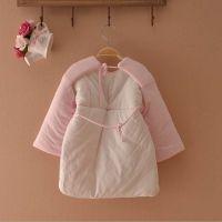 宝宝睡袍 幼儿纯棉空背式防出汗睡袍 三层加厚睡衣睡裙睡罩
