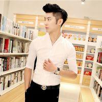 供应2014新款夏装五分袖衬衫 白色