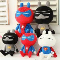批发新款正品兔斯基美国英雄系列蝙蝠侠超人蜘蛛侠毛绒玩具公仔