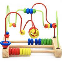 大号台式串珠绕珠玩具 儿童早教益智穿线串珠子宝宝玩具1-2-3-4岁