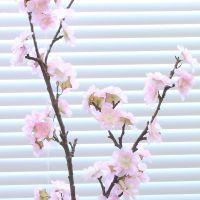 高档仿真花把束花卉 娟花人造装饰花 2叉大枝高仿真樱花