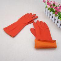 批发零售1980双层绒里手套 防水保暖乳胶家务手套