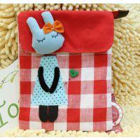 3Q shop 韩版 布艺 卡通 原创 竖款5层袋子 斜挎/单肩 多功能包