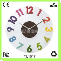 厂家直销 亚克力艺术挂钟 创意挂钟表 凸数字时钟 客厅壁钟
