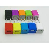 厂家直销小方壳充电器 苹果手机直充 USB充电器 足1000mA CE认证