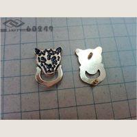 服装包包五金饰扣-豹子头动物系列装饰扣 手袋铭牌金属电镀装饰扣