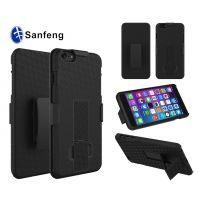 iphone6 plus二合一pc背夹滑套手机壳 多色旋转支架手机保护套