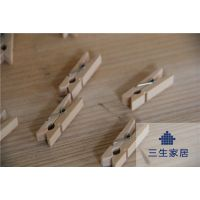 【新品】纯手工松木原木色3.5cm木制夹子 手工麻吊牌照片墙