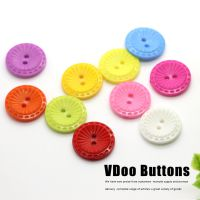 A29钮扣纽扣扣子批发 彩色塑料两眼虚线儿童童装装饰扣20mm