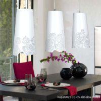 贝特家 现代田园吊灯铁艺灯镂空雕花吊灯北欧三头餐厅灯餐桌灯