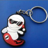 东莞厂家批发定做 PVC钥匙扣 卡通滑雪小人钥匙扣 创意时尚钥匙扣