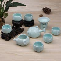 梅子青雪花釉茶具套装紫砂茶具德化陶瓷茶具 青瓷茶壶陶瓷
