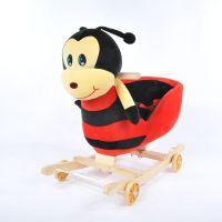 蓝伊仕批发大号蜜蜂款婴儿车宝宝两用音乐摇摇马木马智能滑行