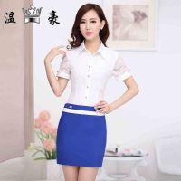 供应供应职业套装女 白色短袖衬衫套半身裙职业装套装