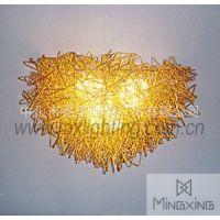供应金色鸟巢编织壁灯|热卖时尚个性简约壁灯|古典现代风情壁灯批发商